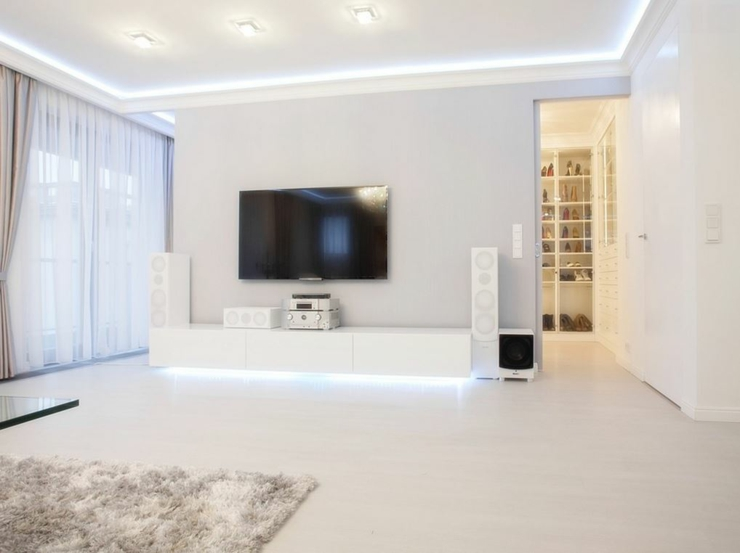 Appartement Moderne Au Design Pur En Blanc Varsovie