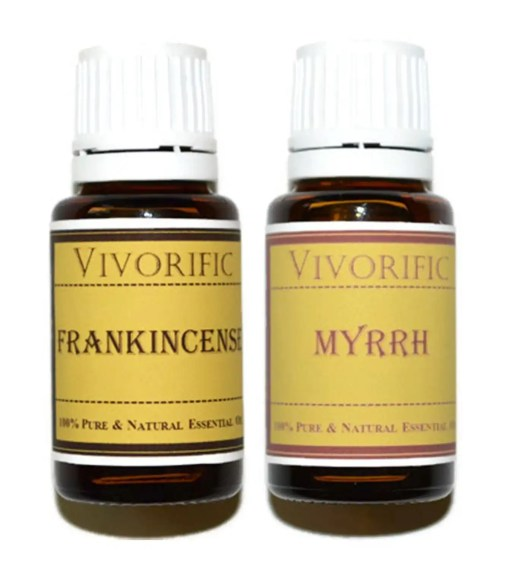 Frankincense and Myrrh Essential Oil Combo Pack 15 mL Therapeutic Grade