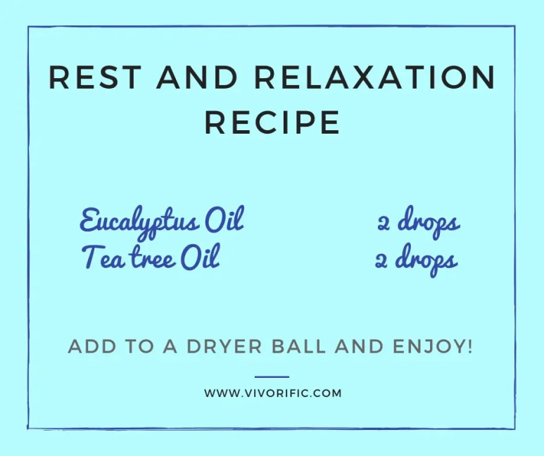 Esssential oils for dryer balls - Rest and Relaxation-Vivorifc Health