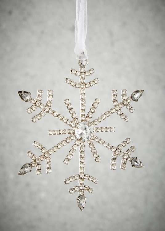 Snowflake Christmas Tree Decoration, £3