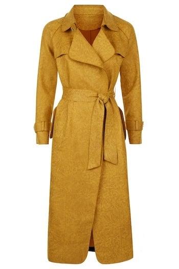 Lasaison Mustard Trench Coat