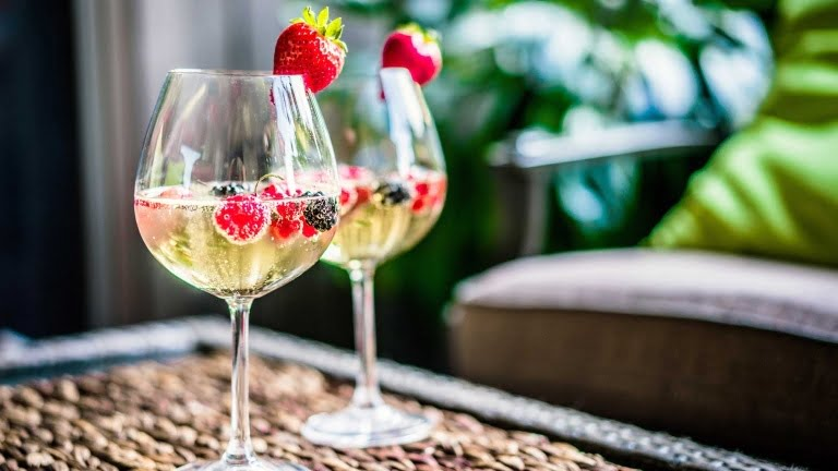 Make cheap wine taste better by adding berries to your glass