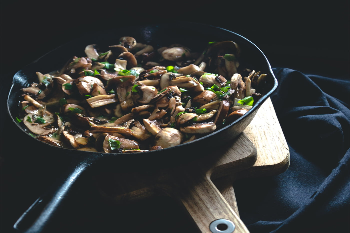 Creamy Stilton Mushrooms on Toast