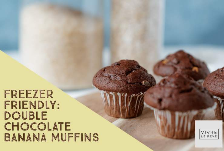 Freezer Friendly: Double Chocolate Banana Muffins