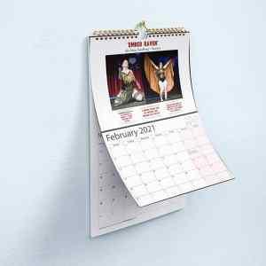 Vixens Unleashed calendar 2021 Ember Raven