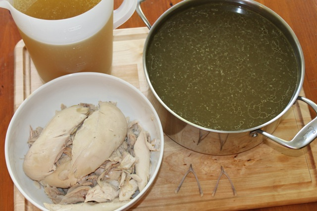 Finished Homemade Chicken Broth