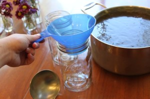 mason jars for storing homemade chicken broth