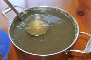 The natural gelatin in homemade chicken broth