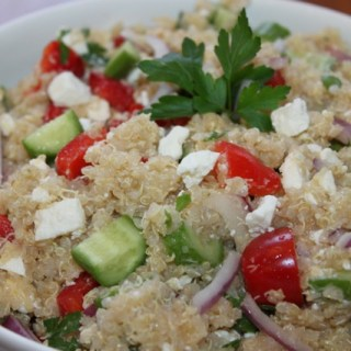 Delicious and healthy greek quinoa salad