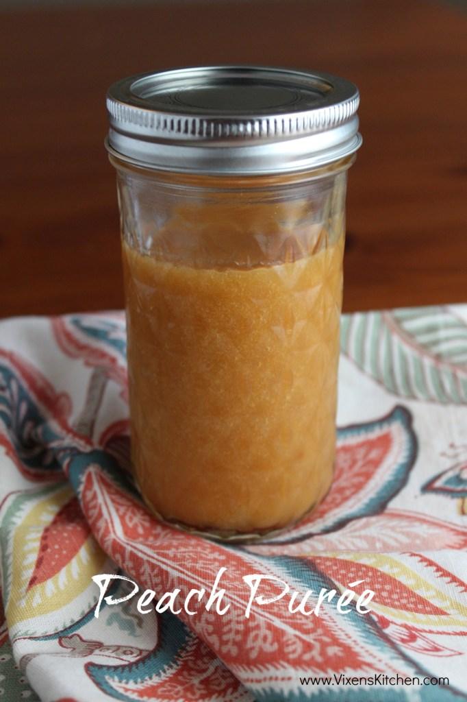 Peach Purée | www.vixenskitchen.com