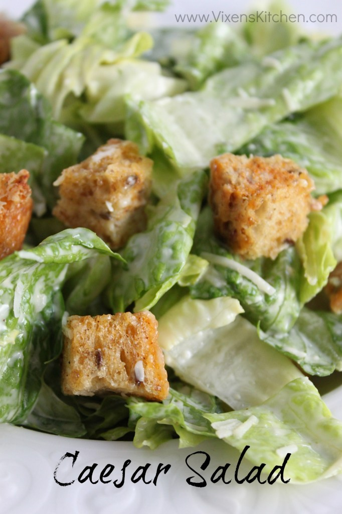 Caesar Salad Dressing! This dressing is by far the best caesar I've ever had!!  | www.vixenskitchen.com