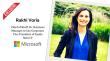 Rakhi Voria, Microsoft Inside Sales
