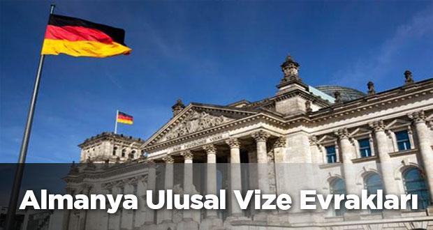 Almanya Ulusal Vize için Gerekli Evraklar