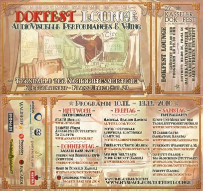 Kassel Dokfest Lounge Flyer - Nov. 13, 2010