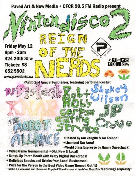 "NINTENDISCO 2 ""Reign of the Nerds"" - poster by Jon Vaughn"