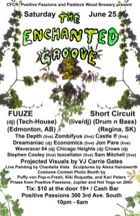 Enchanted Groove Poster - June 2011 - Poster by Jon Vaughn