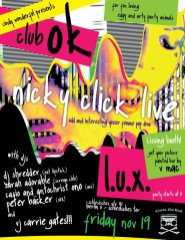 Nicky Click, VJ Carrie Gates, and more live at LUX in Berlin, Nov. 2010