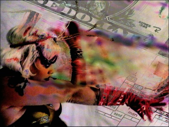 Wizardchow video mix still of Nicky Click by VJ Carrie Gates
