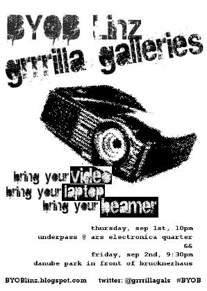 grrrilla galleries presents BYOB Linz - September 2011