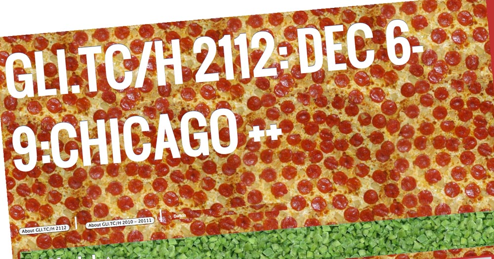 Pizzabook interface for the GLI.TC/H Festival 2013 in Chicago