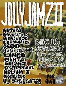 Pop Quiz Records - Jolly Jamz II Poster for Electronic Music Event in Saskatoon in 2013 - Poster by Jon Vaughn