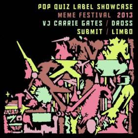 Pop Quiz Label Showcase 2013 - Design by Jon Vaughn