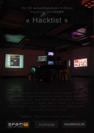 Hacktist Exhibition by Monaddigital in Hangzhou, China 2013