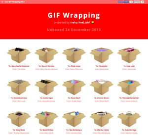 GIF Wrapping 2013 Homepage