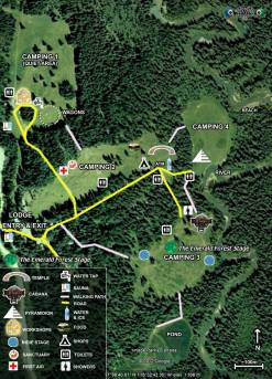 Motion Notion Festival 2014 - Emerald Forest Stage Map