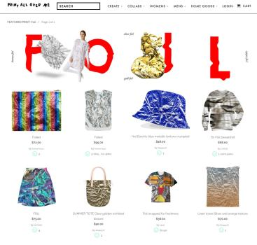 Carrie Gates - Print All Over Me - Foil Collection Email Newsletter Feature - October 2014