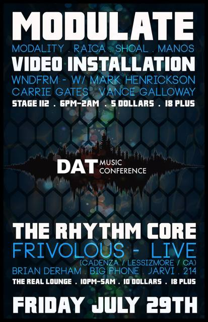 DAT Electronic Music Conference 2016 - Modulate Poster