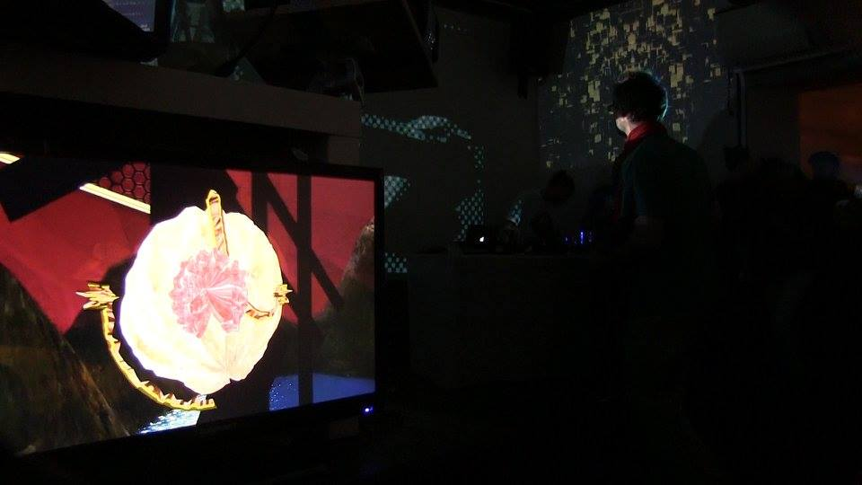 """Carrie Gates and Venetian Snares """"Abducted for Life"""" at Signal Festival - Photo by Si Ma"""