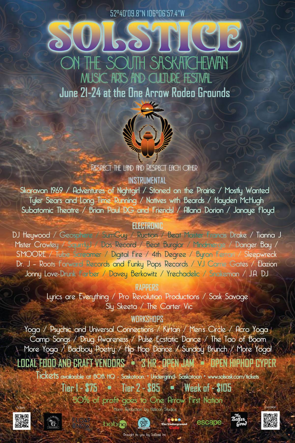 Solstice on the South Saskatchewan (Solsask Festival) - 2018 Poster