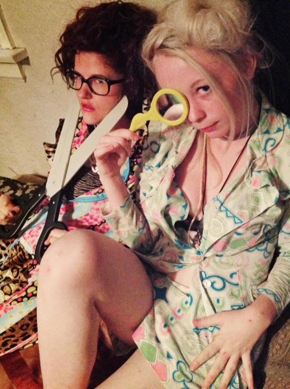 Abbey Fletcher and Kayla Groshuk - Portrait by Carrie Gates 2013