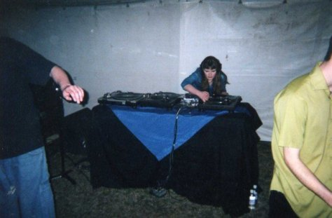 Carrie Gates DJing at the PPM (Plastic Puppet Motive) 6 Year Anniversary in Saskatoon
