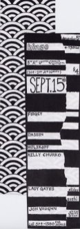 Hinge Event Flyer made by by Carrie Gates...with a photocopier, Sharpies, and vintage kimono patterns in the late 90s :)