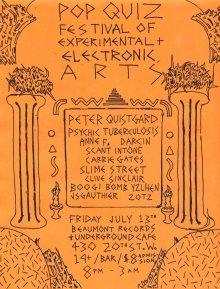 Pop Quiz Records Evnt Flyer from 2012 - Poster by Jon Vaughn
