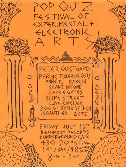 Pop Quiz Records Evnt Flyer from 2012 - Poster by Jon Vaughn