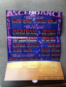 Ascendance - Flyer for Saskatoon Rave, 2006