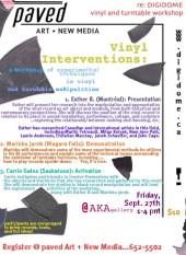 Vinyl Interventions Workshop at the DIGIDOME Festival - September 27 2002