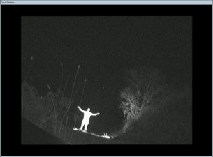 test IR outdoors 10m distance BP120 BW camera