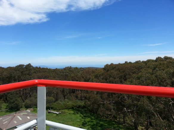 View from the top of the observation platform towards Melbourne