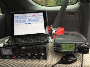 "This is my ""Lite"" portable station, when only working SSB. Full portable station has laptop and rig interfaces for working digital"