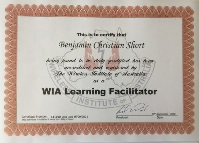 Facilitators Certificate