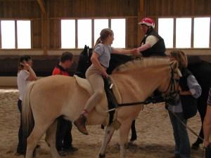 Freude und Begegnung auf dem Pferd