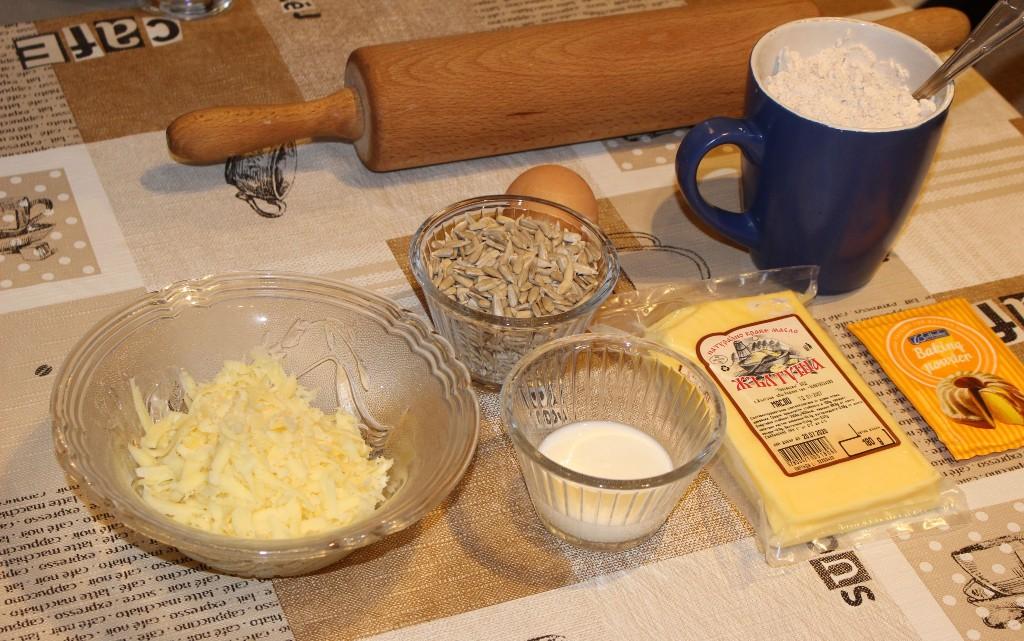 Солени крекери с лимец и слънчогледови семки