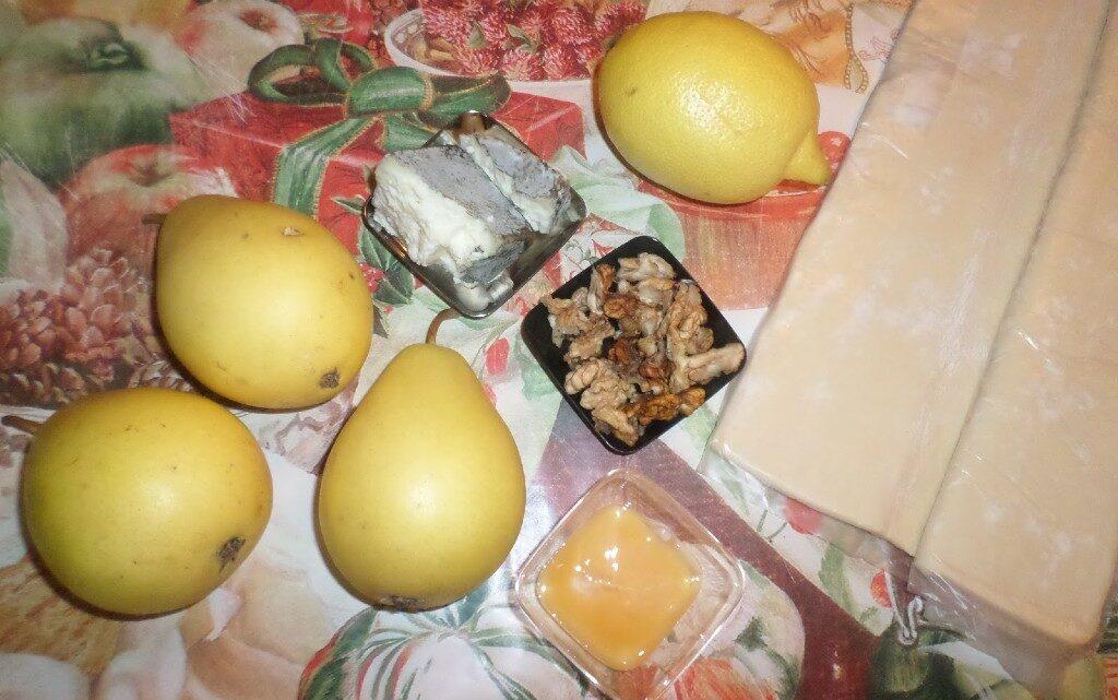 Мини тарти с круша и зелено сирене