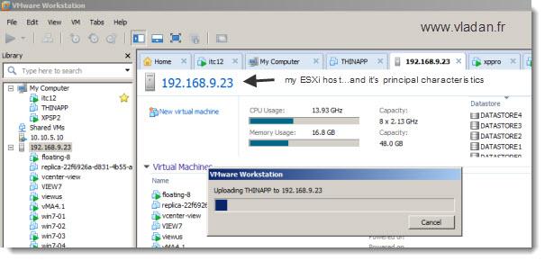 VMware Workstation-8-drag-and-drop-uploading a VM to an ESX host