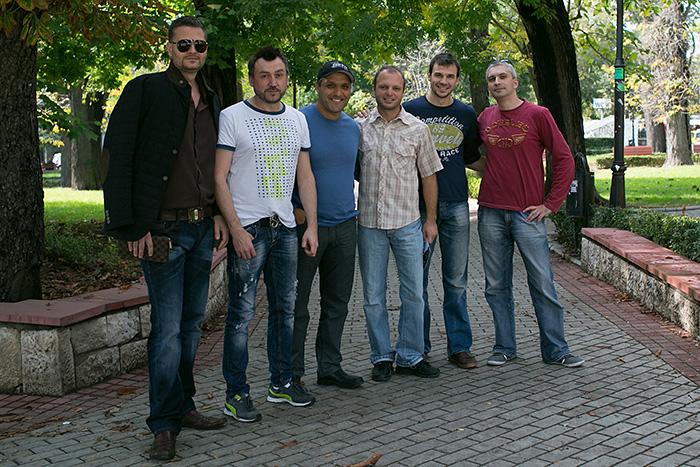 Част от организаторите с Любо, Ивайло Захариев и Влади Балевски