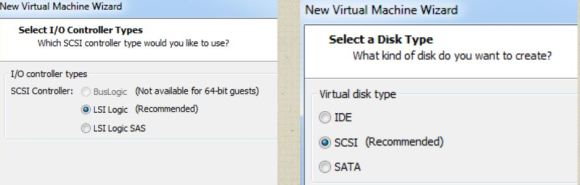 Select a Disk Type for VM